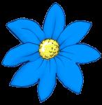 Flower - Blue- John Duffield duffield-design