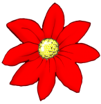 Flower - Red - John Duffield duffield-design