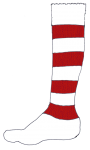 Football Sock R&W - John Duffield duffield-design