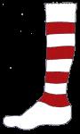 Football Sock R&W - John Duffield duffield-design