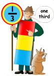 Fraction Character 2 - One Third - John Duffield duffield-design