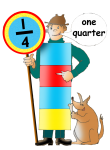 Fraction Character 3 - One Quarter - John Duffield duffield-design