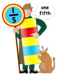 Fraction Character 4 - One Fifth - John Duffield duffield-design