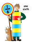 Fraction Character 5 - One Sixth - John Duffield duffield-design