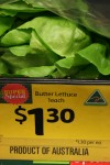 Fruit & Vegie Shop Sign Lettuce $1.30 each - Bev Dunbar Maths Matters