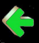 Geometry Symbols - Arrow Left - Green - John Duffield duffield-design