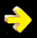 Geometry Symbols - Arrow Right - Yellow - John Duffield duffield-design