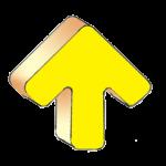 Geometry Symbols - Arrow Up - Yellow - John Duffield duffield-design