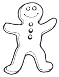 Gingerbreadman lineart - John Duffield duffield-design