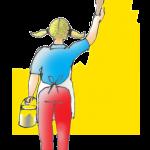 Girl Painting wall - John Duffield duffield-design