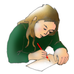 Girl Writing - John Duffield duffield-design