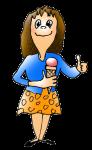 Girl with 100 g Icecream - John Duffield duffield-design