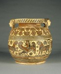 Greek decorated clay vase 570 BC (spheres, 3D objects, Patterns) Getty Images
