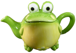 Green Frog Teapot $35 Bev Dunbar Maths Matters