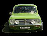 Green vintage car - Front - Bev Dunbar Maths Matters