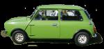 Green vintage car - Side - Bev Dunbar Maths Matters