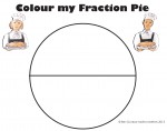 Halves Colour my Fraction Pie Bev Dunbar Maths Matters