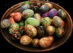 Hand painted Easter Eggs $9.50 Bev Dunbar Maths Matters