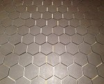 Hexagonal grey bathroom tiles 2D Shapes Bev Dunbar Maths Matters