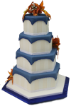 Hexagonal prism wedding cake Bev Dunbar Maths Matters