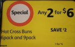 Hot Cross Bun Packs 2 for $6 - Bev Dunbar Maths Matters