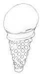 Icecream Cone - B&W - John Duffield duffield-design