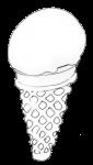Icecream Cone - B&W - John Duffield duffield-design