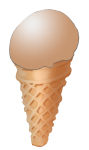 Icecream Cone - Chocolate - John Duffield duffield-design