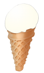 Icecream Cone - Vanilla - John Duffield duffield-design