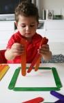 Joey makes a 2D square Bev Dunbar Maths Matters