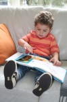 Joey reads a book about Position Where is Spot? Bev Dunbar Maths Matters
