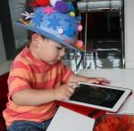 Joey uses his ipad to make patterns Bev Dunbar Maths Matters