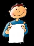 Boy holding paper - John Duffield duffield-design