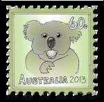 Koala Stamp - John Duffield duffield-design
