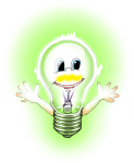 Lighbulb Boy coloured green -John Duffield duffield-design