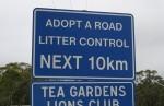 Litter Control Sign 10 km Bev Dunbar Maths Matters