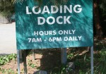 Loading Dock Sign 7 am - 6 pm Bev Dunbar Maths Matters