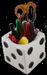 Lucky Cube Pencil Holder Bev Dunbar Maths Matters
