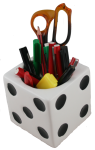 Lucky Cube Pencil Holder Bev Dunbar Maths Matters