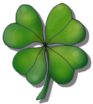 Lucky Four Leaf Clover - John Duffield duffield-design
