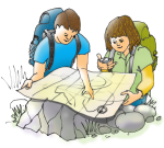 2 children - Map Reading  - Position - John Duffield duffield-design