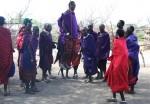 Masai man jumping - length -Bev Dunbar Maths Matters
