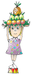 Girl - Miss Fruit Hat - Data- John Duffield duffield-design