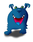 Monster 4 Blue GraH! - John Duffield duffield-design