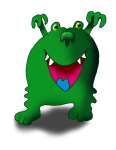 Monster 4 Green GraH! - John Duffield duffield-design