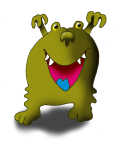 Monster 4 Olive GraH! - John Duffield duffield-design