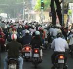 Motorbike riders Vietnam Bev Dunbar Maths Matters