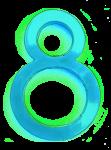 Neon 8 Aqua - John Duffield duffield-design