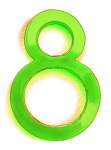 Neon 8 Lime - John Duffield duffield-design