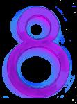 Neon 8 Purple - John Duffield duffield-design